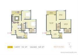 West Facing House Vastu Floor Plans 3 Bedroom Apartment Flat For Rent In Pride Springfields