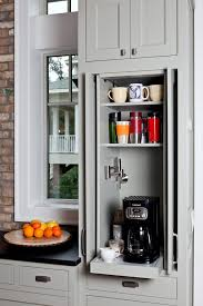 pot filler in cabinet for coffee perfect luxury kitchen ideas