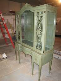 Beveled Glass China Cabinet China Cabinet With Beveled Glass Doors Chalk Paint Distressed