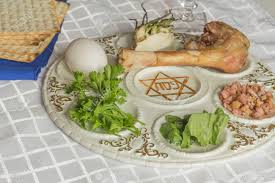 passover plate foods seder plate six foods make up this passover meal stock