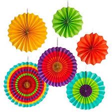 party fans colorful paper fans wheel disc