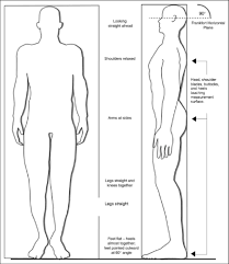 proper position for measuring standing height national health and