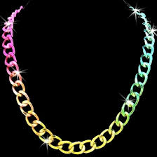 colored chain link necklace images Diamond cut metallic multi color chain link statement necklace jpeg