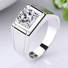 mens diamond engagement rings 1 carat white gold 585 classic men s ring ashine synthetic