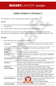 stunning employment contract template photos resume samples