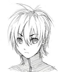 spiky anime hairstyles sketch guy 66 by lyanne lu art on deviantart