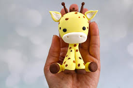 giraffe cake topper fondant giraffe gumpaste giraffe safari cake topper edible