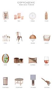 home trends rose gold decor copycatchic