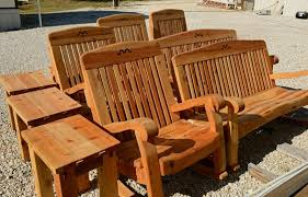 Western Red Cedar Outdoor Furniture by Hand Crafted Texas Furniture Cedar Rockers U0026 Benches Porch