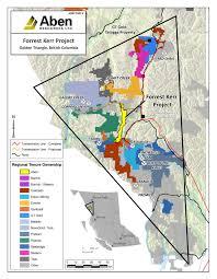 Gold Line Map Forrest Kerr Gold Project Bc Aben Resources Ltd