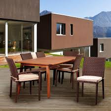 Hampton Bay Patio Dining Set - hampton bay spring haven brown 7 piece all weather wicker patio