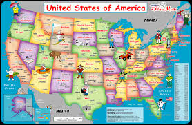 Map Of United States With States by Map Of The United States For Kids Thefreebiedepot