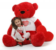 valentines big teddy hot 55in bitsy cuddles with heart t shirt a