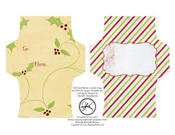 christmas gift card envelope template template business