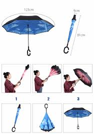 Interesting Gadgets 2 Layer Smart Reversible Umbrella With C Handle Wish List