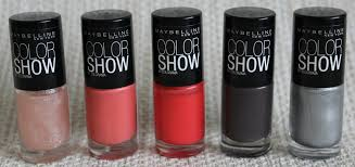 maybelline color show nail polishes photos swatches lovely
