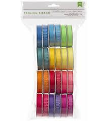 spools of ribbon ribbons bows printed ribbon designs colors joann