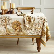 printed thanksgiving turkey tablecloth decorating with style
