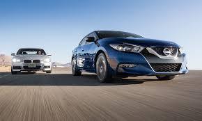 nissan maxima race car vehicle magazine test bmw 340i vs nissan maxima sr