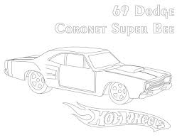 wheels dodge coronet super bee coloring pages
