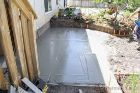 Cement Patio Stones How To Install A Diy Concrete Patio