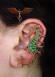 wire ear cuffs wire wrapped ear cuff artistry by rocktime the beading gem s journal