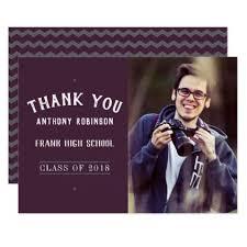 senior graduation invitations graduation announcement postcards grey and plum color chevron