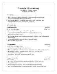 what is the format of a resume 3 resume formats exles in ms word