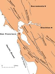 Map From San Francisco To Napa Valley by Geology Of The Napa Valley Earthquake