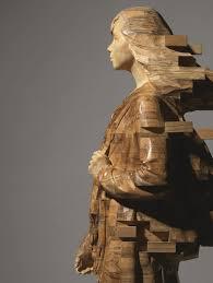 wood sculptures by hsu tung han seem like pixelations