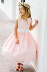 blush flower dresses