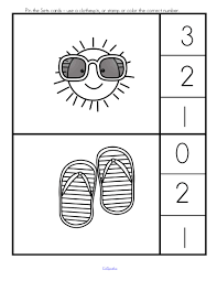 summer printables pack 63 number math hands on activity pages b w