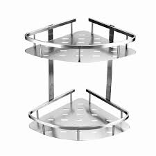 Bathroom Shower Shelves Stainless Steel by Blh 821 Double Tier Brushed Nickel Stainless Steel Wall Bathroom