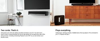 amazon com sonos 5 1 home theater system playbar sub play 1