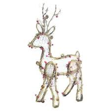 lighted reindeer reindeer outdoor decorations you ll wayfair