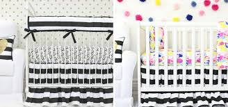 Black And White Crib Bedding Set Black White Nursery Inspiration Be Bold And Get Inspired