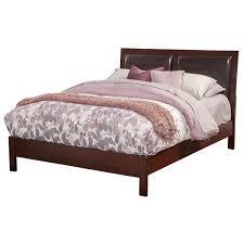 Leather Headboard Platform Bed Alpine Furniture Ncc 07ek Costa Mesa Standard King Platform Bed In