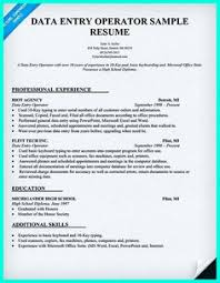 Data Entry Specialist Resume Your Data Entry Resume Is The Essential Marketing Key To Get The
