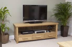 Eton Solid Oak Living Room Furniture Widescreen TV Cabinet Stand - Oak living room sets