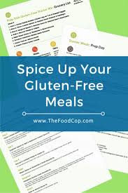 spice up your gluten free meals the food cop clean healthy eating