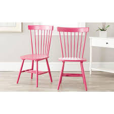 pink kitchen dining room furniture furniture the home depot riley pink wood dining chair set of 2