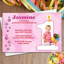 birthday invitation cards for 1 year old gallery invitation