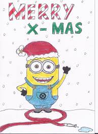 minion christmas by erzascarlet791 on deviantart