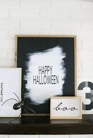 black u0026 white halloween mantel decor