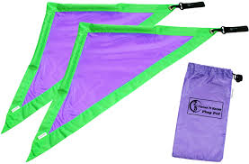 Purple Flag Coloured Flag Poi Travel Bag