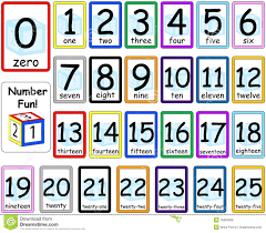 numbers flash cards set 0 25 royalty free stock photos image
