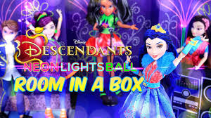 diy how to make disney descendants neon lights ball room in a