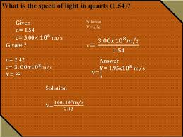 What Is The Speed Of Light Refraction Of Light