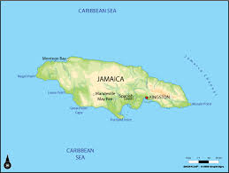 jamaica physical map large physical map of jamaica