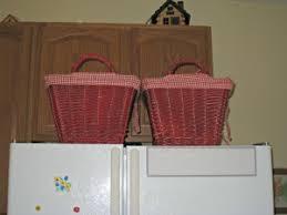 top of fridge storage baskets for kitchen organization momhomeguide com
